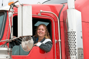 Truck Driver in Cab Fotolia_85425915_XS copy